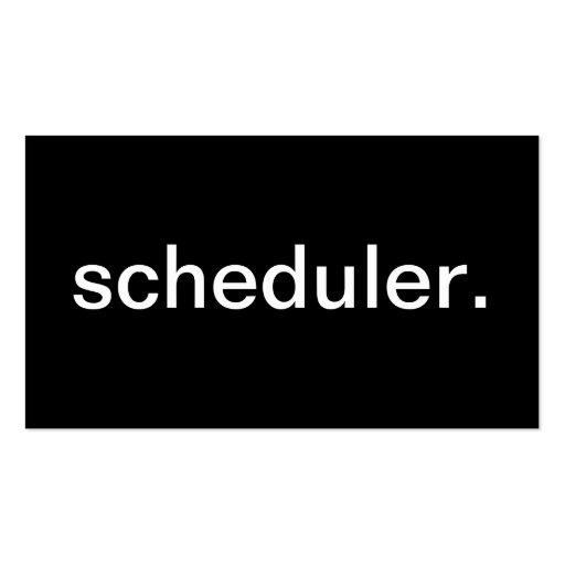 Scheduler Business Card