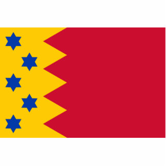 Scheemda, bandera holandesa fotoescultura vertical