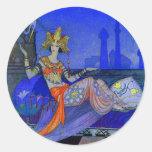 Scheherazade Round Sticker