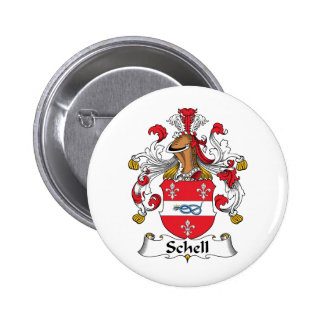 Schell Family Crest Pinback Button