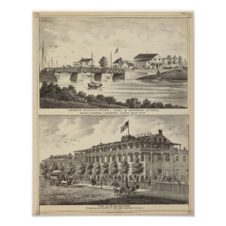 Schellinger Store and Ocean House Poster