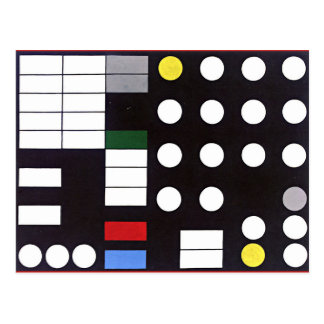 Schematic Composition, abstract art Postcard