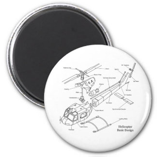 Schematic of the Major Components in a Helicopter 2 Inch Round Magnet
