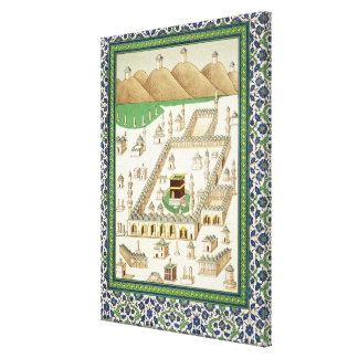 Schematic View of Mecca, showing the Qua'bah, from Canvas Prints