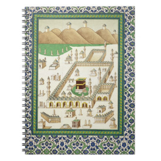 Schematic View of Mecca, showing the Qua'bah, from Note Book