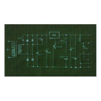scheme electronic circuit business card template