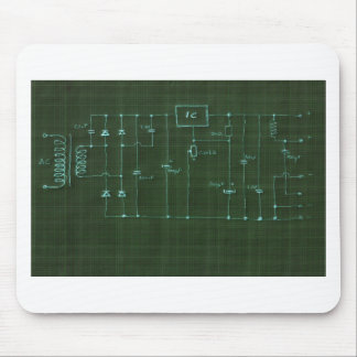 scheme electronic circuit mouse pad