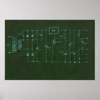 scheme electronic circuit print