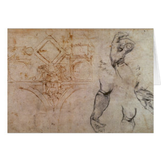 Scheme for the Sistine Chapel Ceiling, c.1508 Card