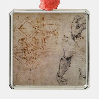Scheme for the Sistine Chapel Ceiling, c.1508 Metal Ornament