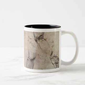 Scheme for the Sistine Chapel Ceiling, c.1508 Two-Tone Coffee Mug