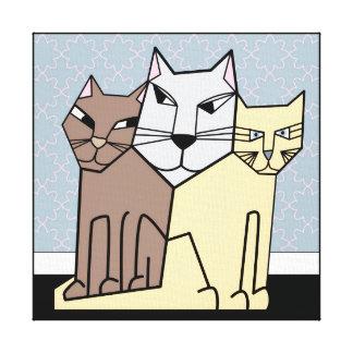 Scheming Cats Canvas Print