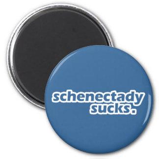 Schenectady chupa imán redondo 5 cm