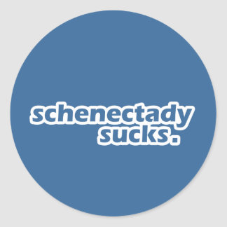Schenectady chupa pegatina redonda