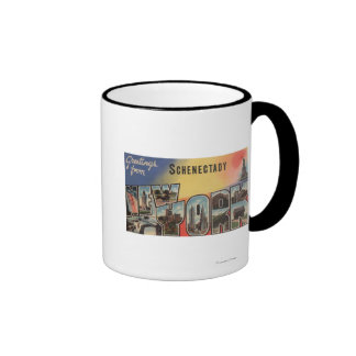 Schenectady New York - Large Letter Scenes Coffee Mugs