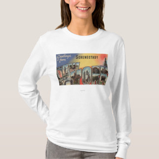 Schenectady, New York - Large Letter Scenes T-Shirt