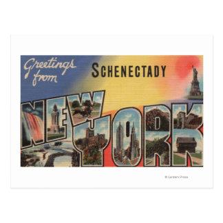 Schenectady, Nueva York - escenas grandes de la Tarjetas Postales