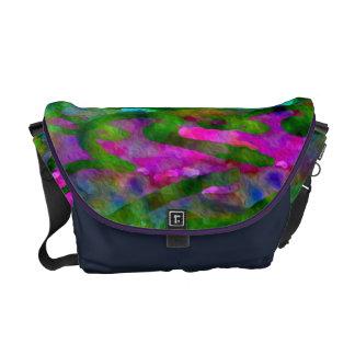 Schenectady Spring Luscious Color Abstract Messenger Bag