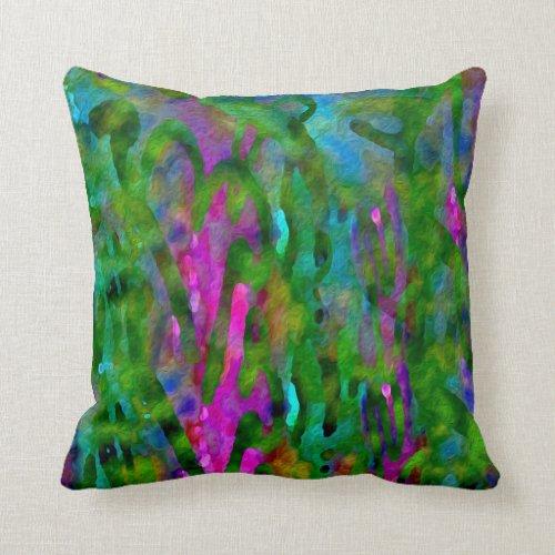 Schenectady Spring Luscious Color Abstract Throw Pillow