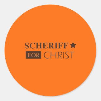 scheriffforChrist002sm Classic Round Sticker