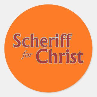 scheriffforChrist003 Classic Round Sticker