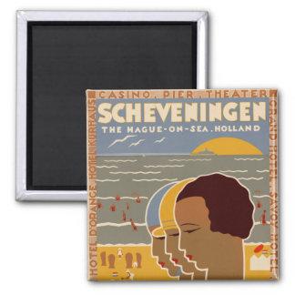 Scheveningen 2 Inch Square Magnet