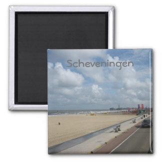 Scheveningen beach 2 inch square magnet
