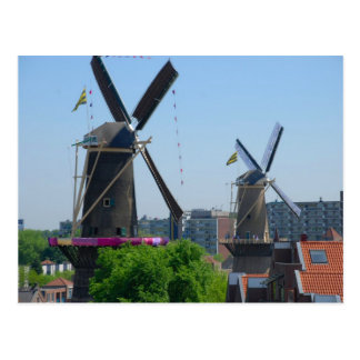 Schiedam, windmills postcard