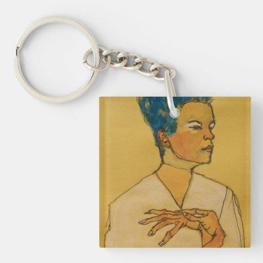 Schiele Art Keychain