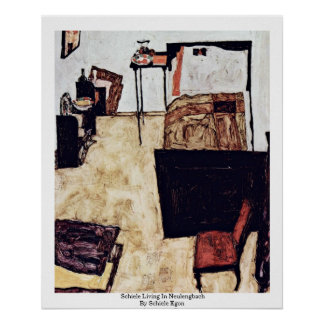 Schiele Living In Neulengbach By Schiele Egon Print