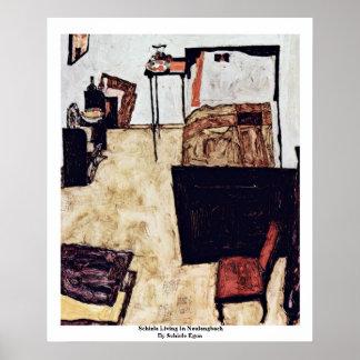 Schiele que vive en Neulengbach de Schiele Egon Impresiones