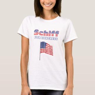 Schiff for Congress Patriotic American Flag Design T-Shirt