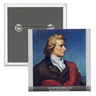Schiller murió en 1805 pin cuadrada 5 cm