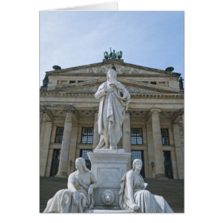 Schiller Statue in Berlin Card
