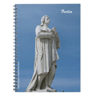 Schiller Statue in Berlin Notebook