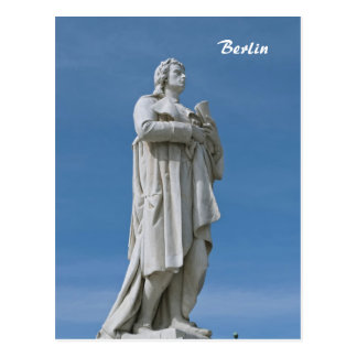 Schiller Statue in Berlin Postcard