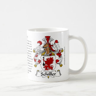 Schiller, the Origin, the Meaning and the Crest Coffee Mug