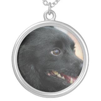 schipperke-1.jpg silver plated necklace