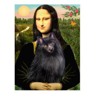 Schipperke 2 - Mona Lisa Postcard