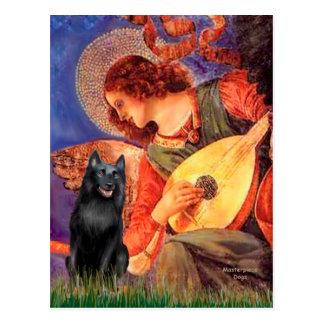 Schipperke 5 - Mandolin Angel Postcard