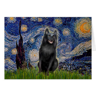 Schipperke 5 - Starry Night Card