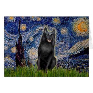Schipperke 5 - Starry Night Card