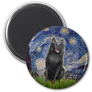 Schipperke 5 - Starry Night Magnet
