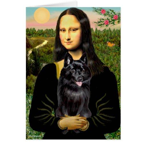 Schipperke 7 - Mona Lisa Card