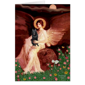 Schipperke 7 - Seated Angel Card
