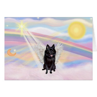 Schipperke Angel Card