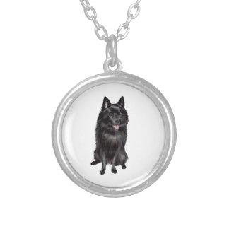 Schipperke (B) Silver Plated Necklace