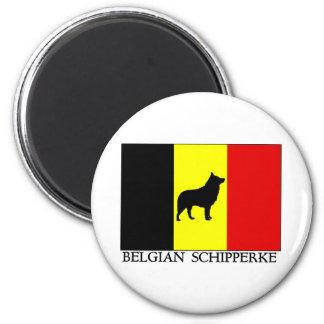 Schipperke belga imán redondo 5 cm
