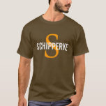 Schipperke Breed Monogram/Dog Lovers Shirt