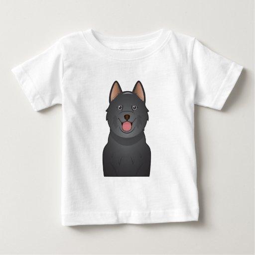 Schipperke Cartoon Baby T-Shirt
